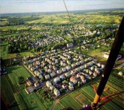 Domki osiedlowe - widok z góry