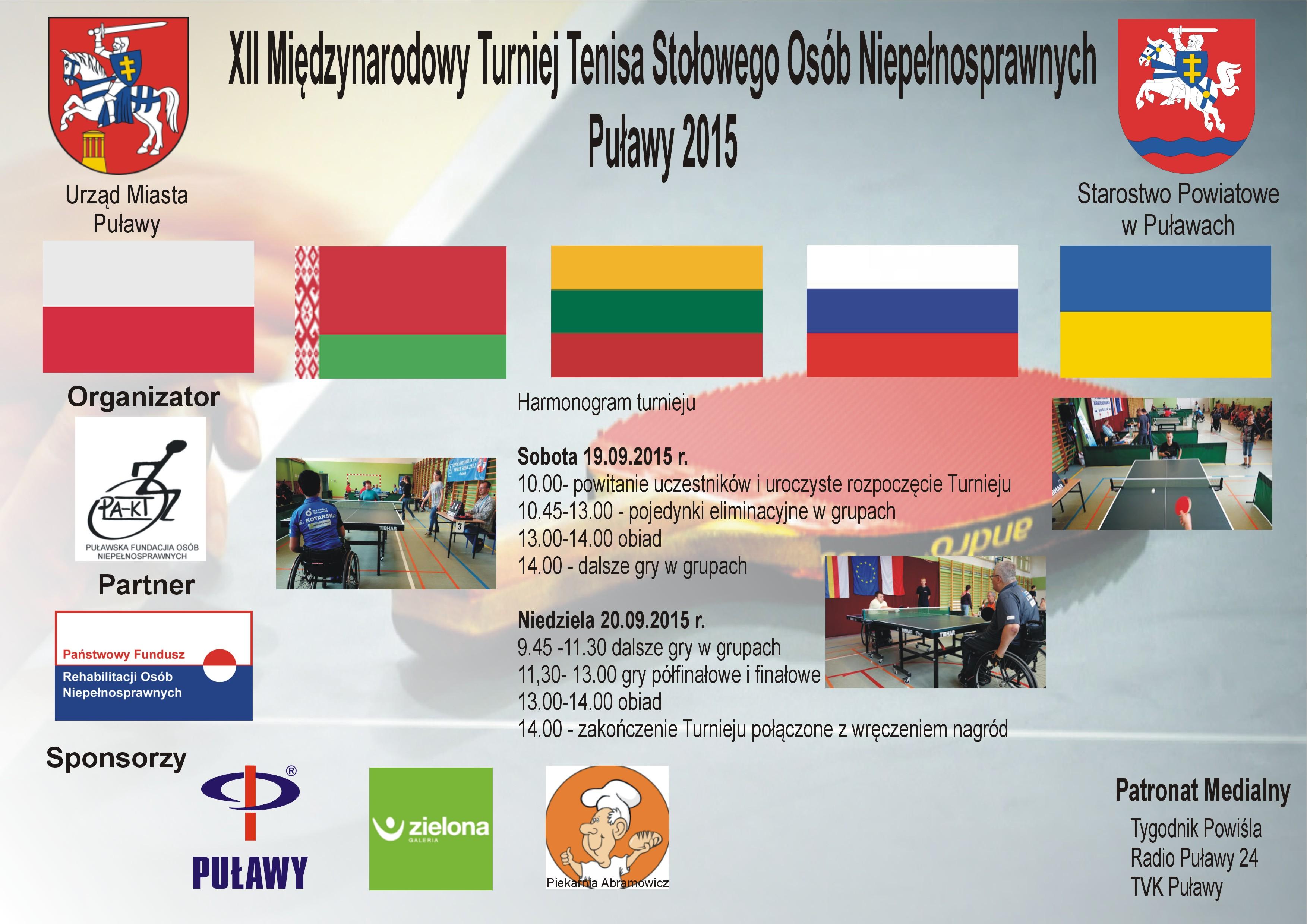 XII Międzynarodowy Turniej Tenisa Stołowego Osób Niepełnosprawnych