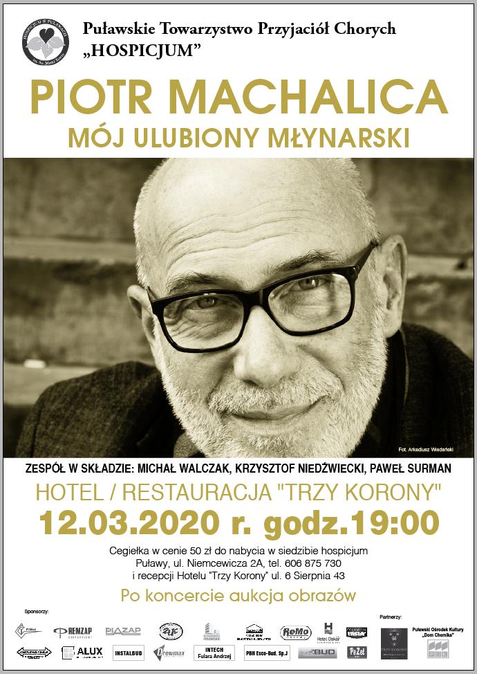 Plakat informujący o koncercie Piotra Machalicy