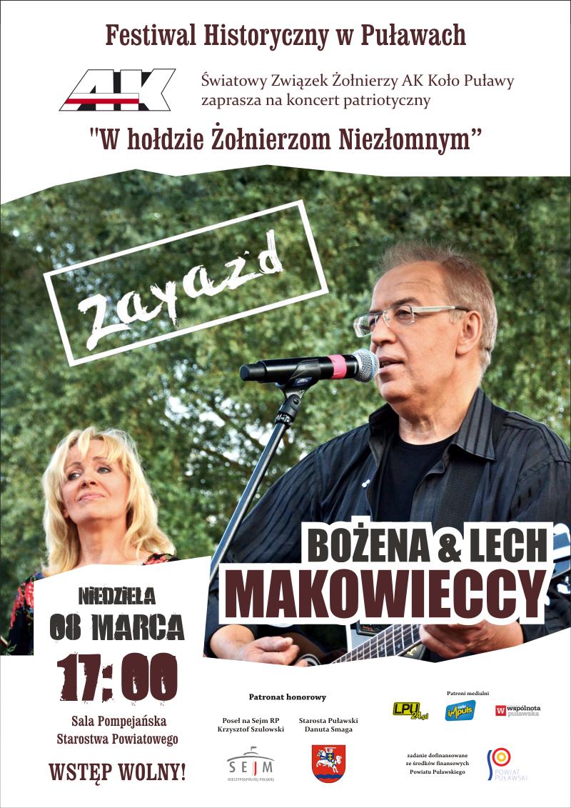 Plakat informujący o koncercie Lecha Makowieckiego.