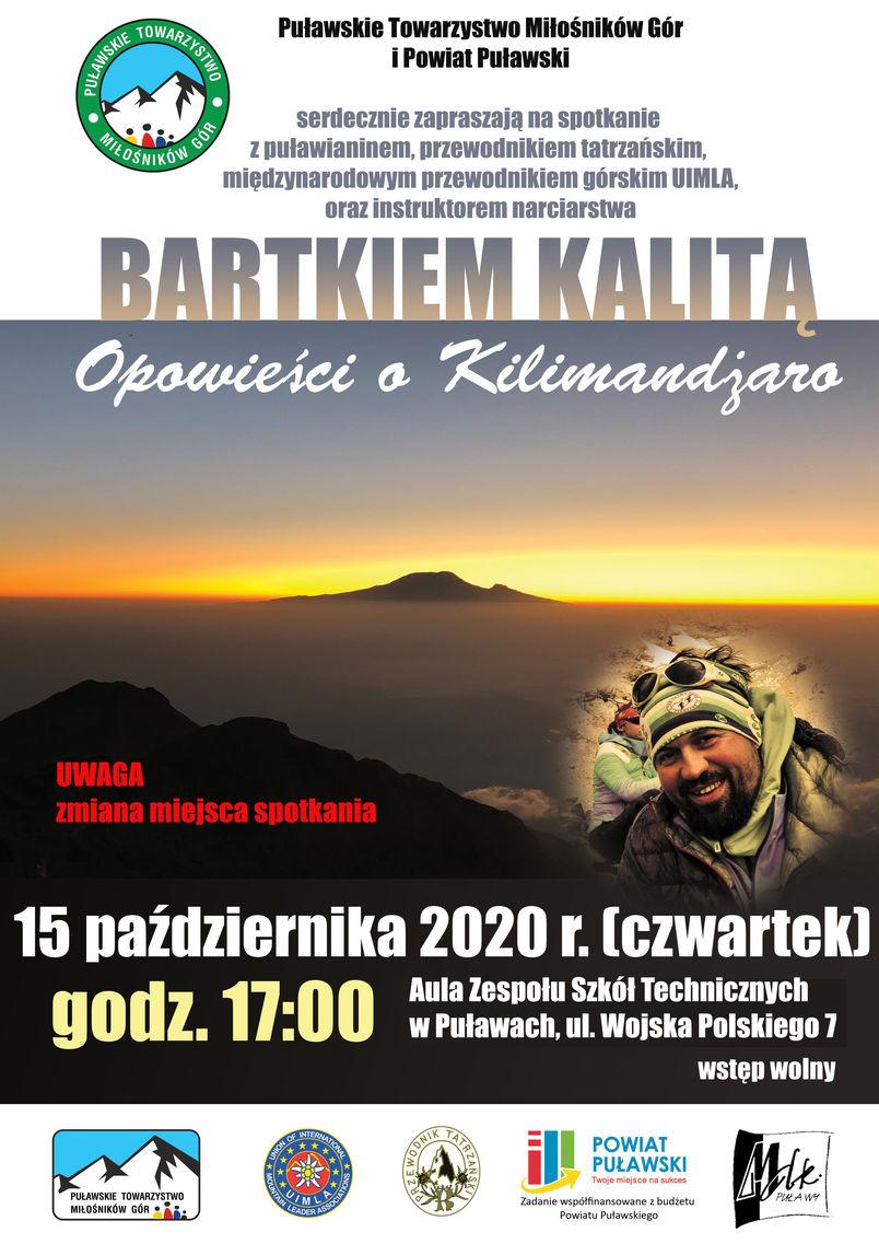 Opowieści o Kilimandżaro - spotkanie z Bartkiem Kalitą