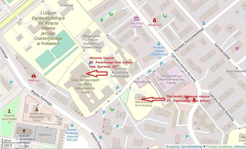 Mapka dojazdu na uroczystość