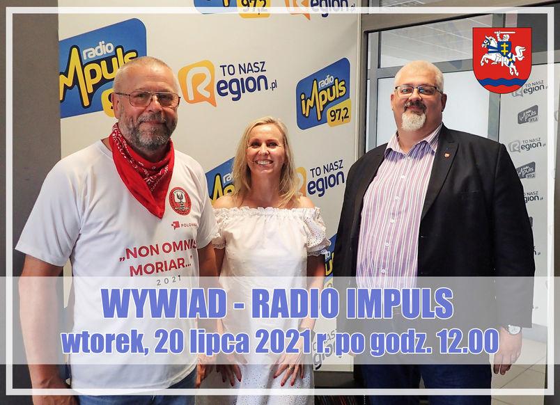 Wywiad Radio Impuls wtorek 20 lipca 2021 roku po godz. 12. Ludzie w studiu nagrań