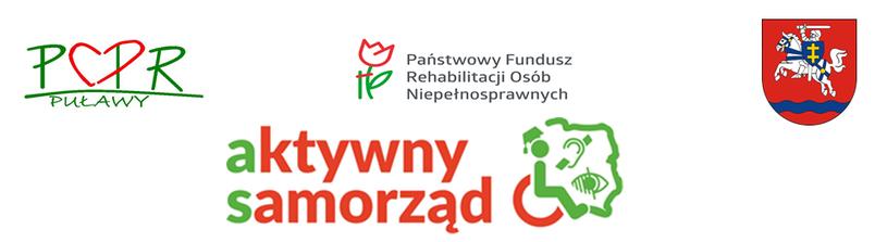 LOga aktywny samorząd, herb powiatu puławskiego