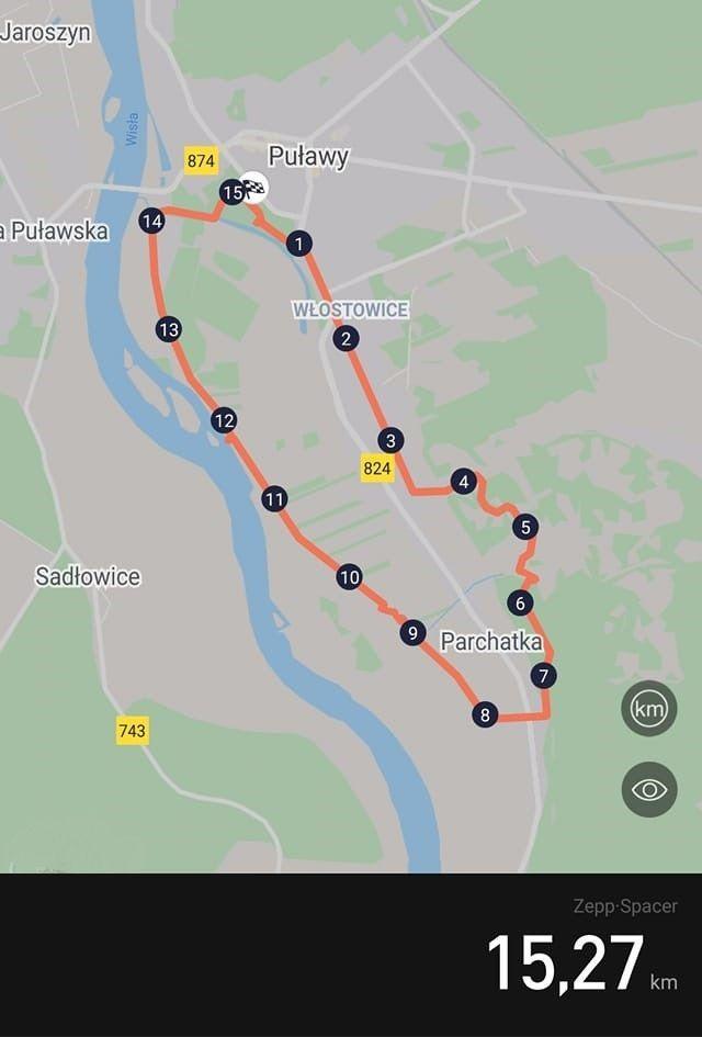 Przebieg trasy - mapka
