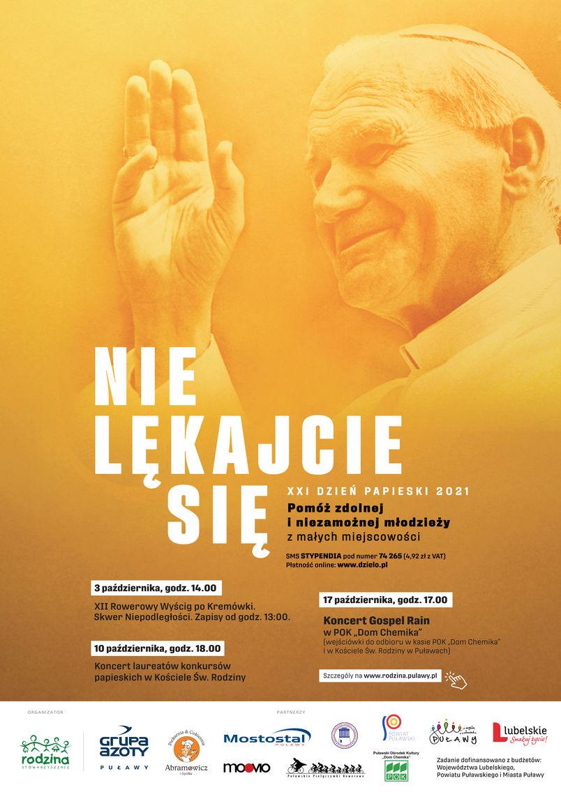 Nie lękajcie się! XXI Dzień Papieski. Plakat
