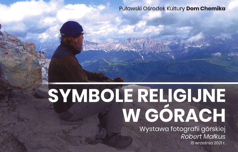 Symbole religijne w górach - człowiek na skałach