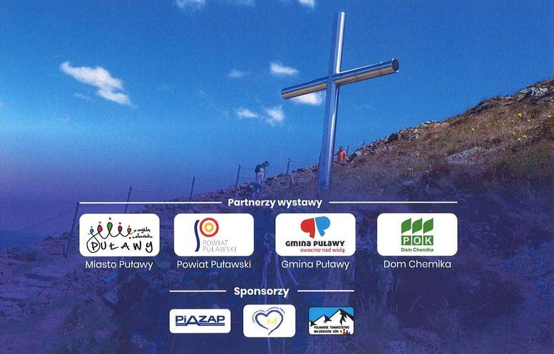 Krzyż pof szczytem, loga sponsorów