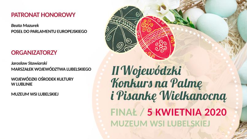 Plakat - II Wojewódzki Konkurs na Palmę i Pisankę Wielkanocną