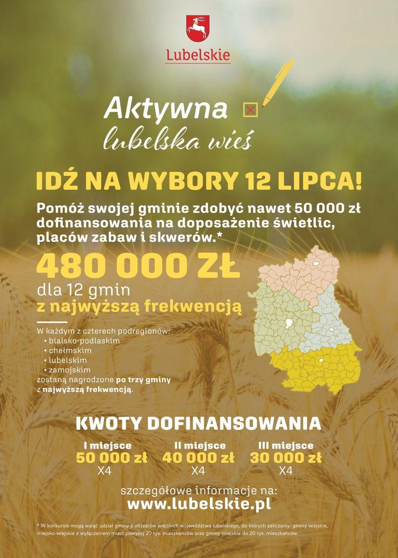 Aktywna lubelska wieś plakat