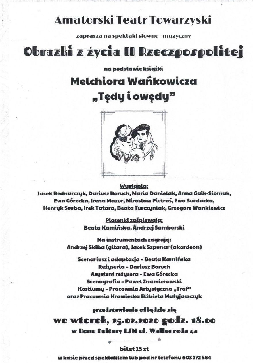 Plakat informacyjny - Obrazki z życia II Rzeczpospolitej