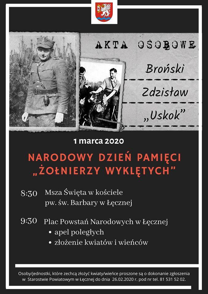"""Plakat - Narodowy Dzień Pamięci """"Żołnierzy Wyklętych"""""""