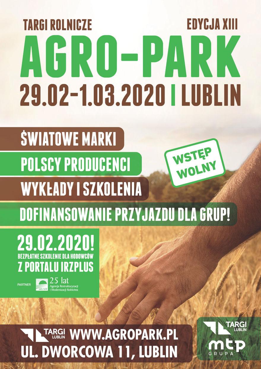 Plakat -Targi Rolnicze AGRO-PARK