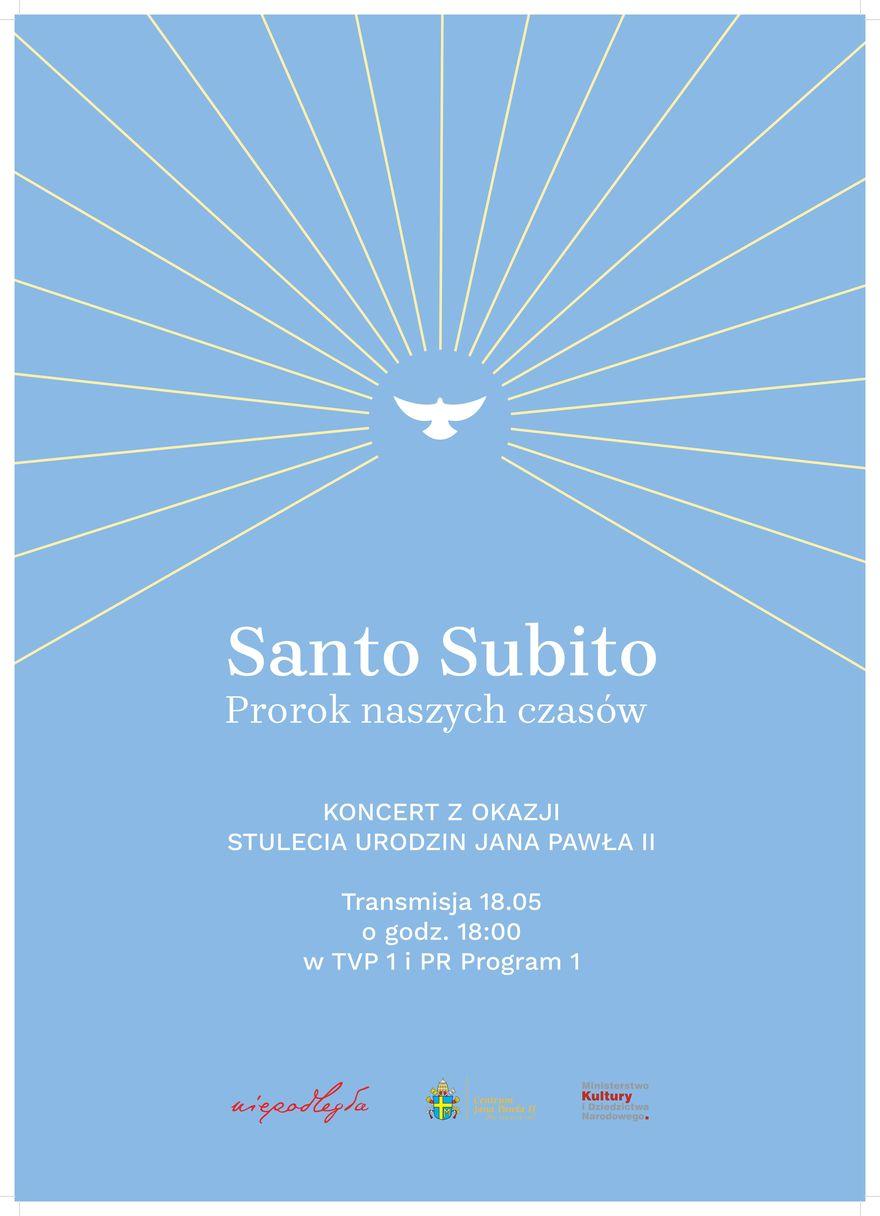 Plakat - Koncert z okazji setnej rocznicy urodzin Jana Pawła II