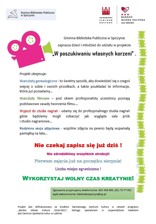 plakat wykorzystaj wolny czas kreatywnie