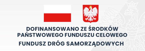 Godło i flaga Polski z napisem: