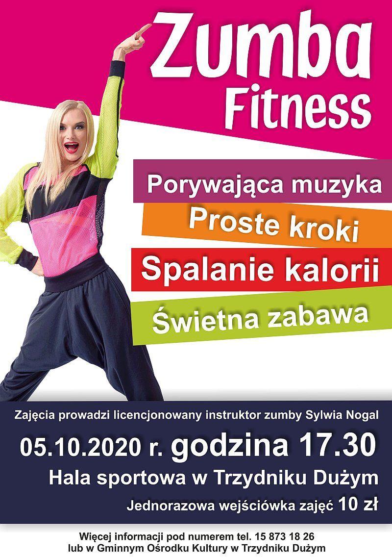 plakat promujący zumbę