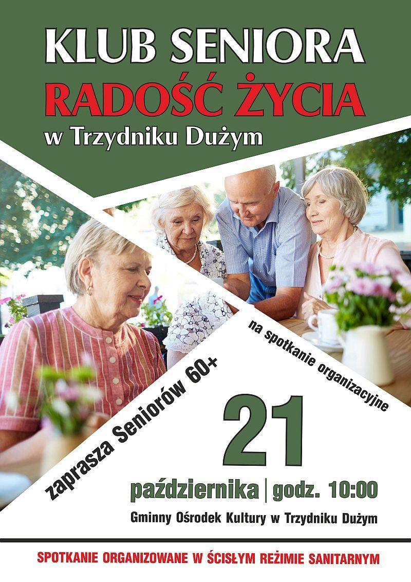 Klub seniora- plakat