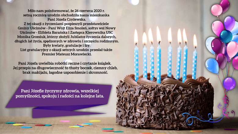 Setna rocznica urodzin Pani Józefy Czyżewskiej