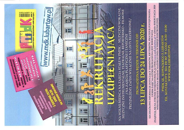 plakat ogłoszenie o rekrutacji uzupełniającej mdk