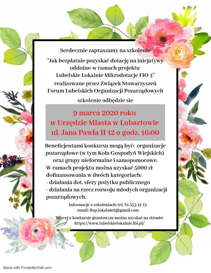 Plakat - Zaproszenie na szkolenie