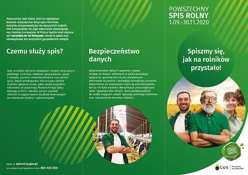 Spis rolny 2020 - czemu służy- plakat
