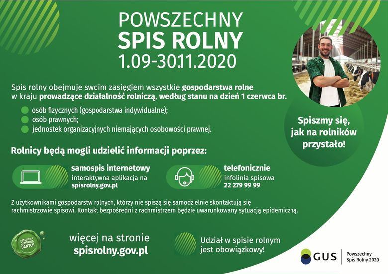 Spis Rolny 2020 informacje
