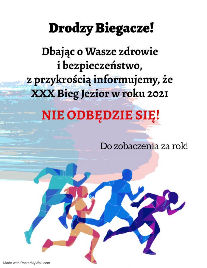Plakat z informacją z aktualności