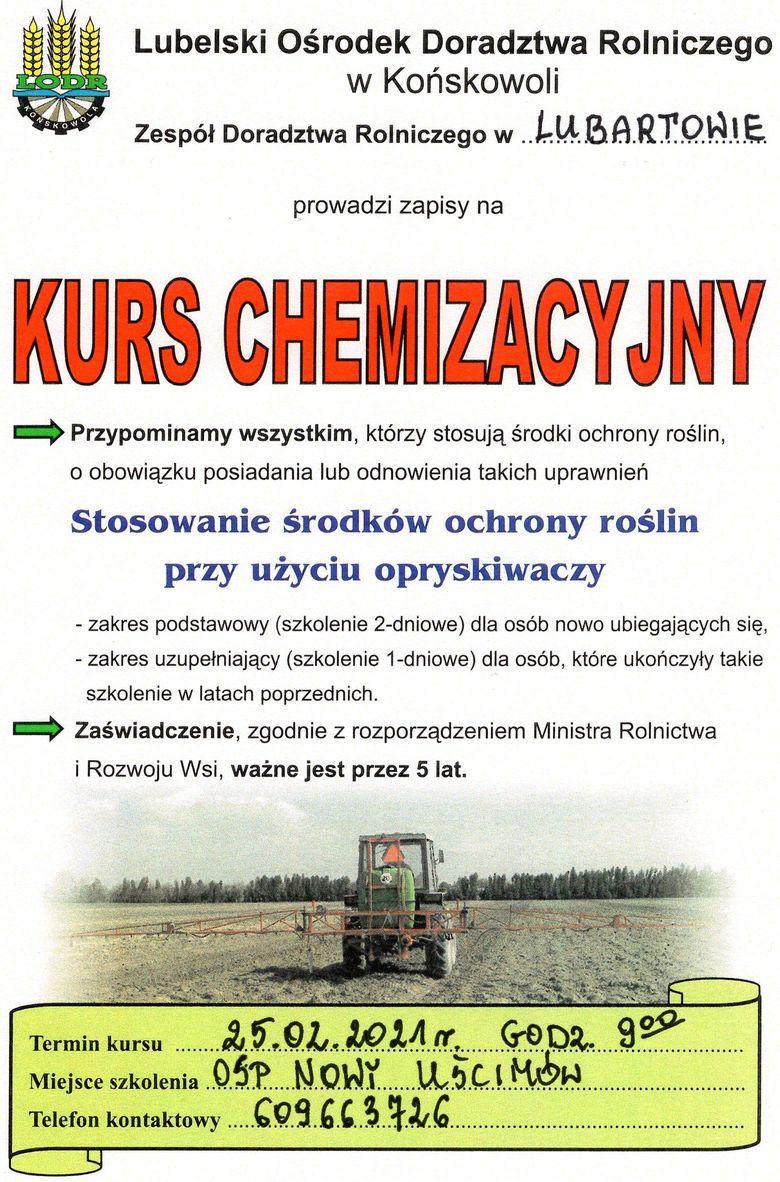 Plakat z informacjami z treści