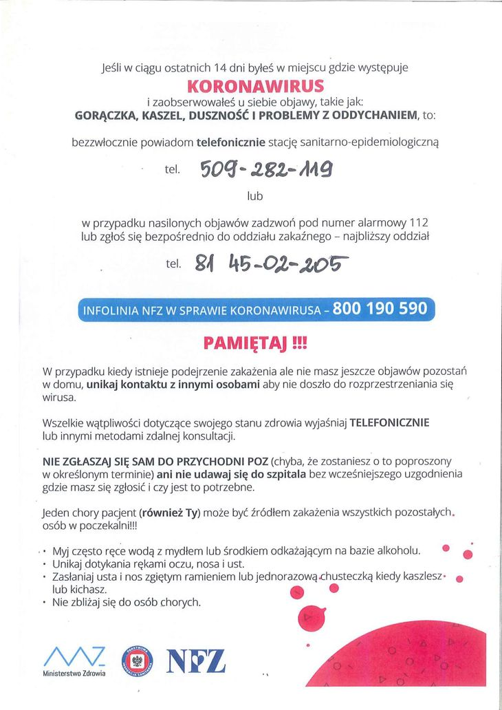 Plakat - KORONAWIRUS
