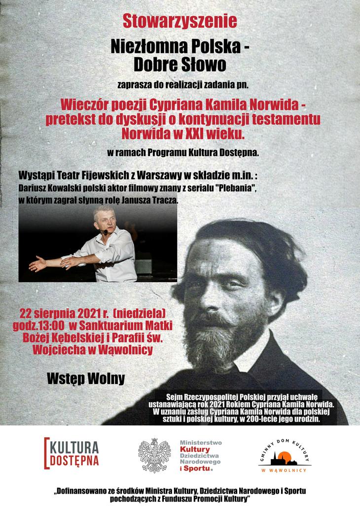 Plakat z informacjami