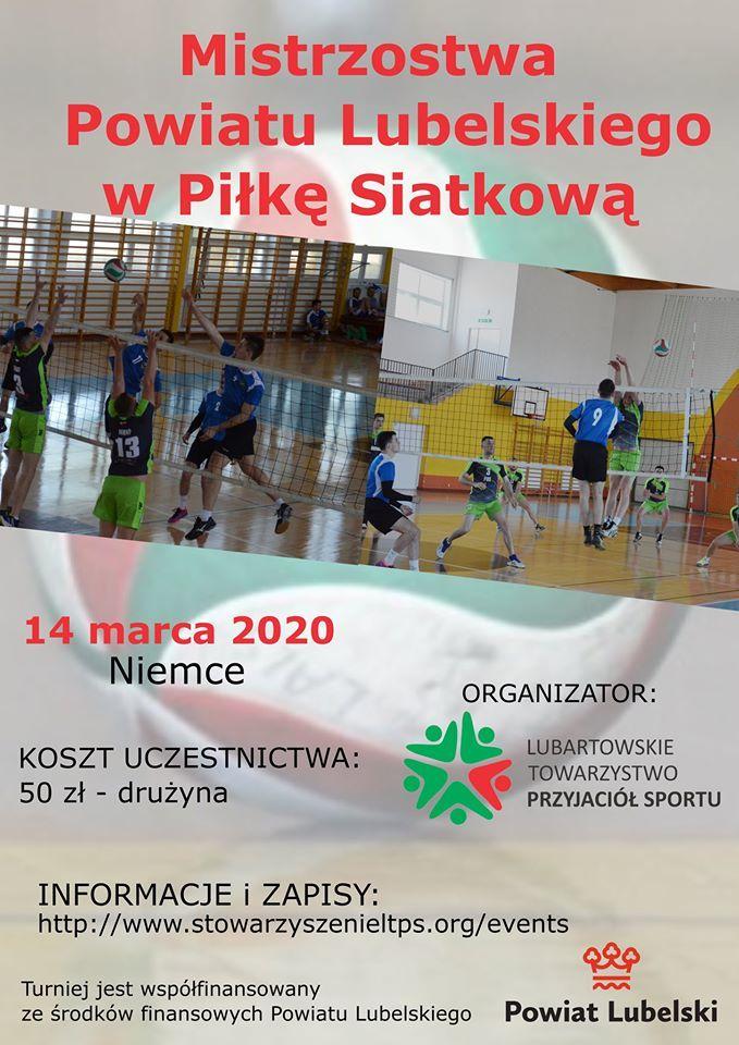 Plakat - Mistrzostwa Powiatu Lubelskiego w piłkę siatkową