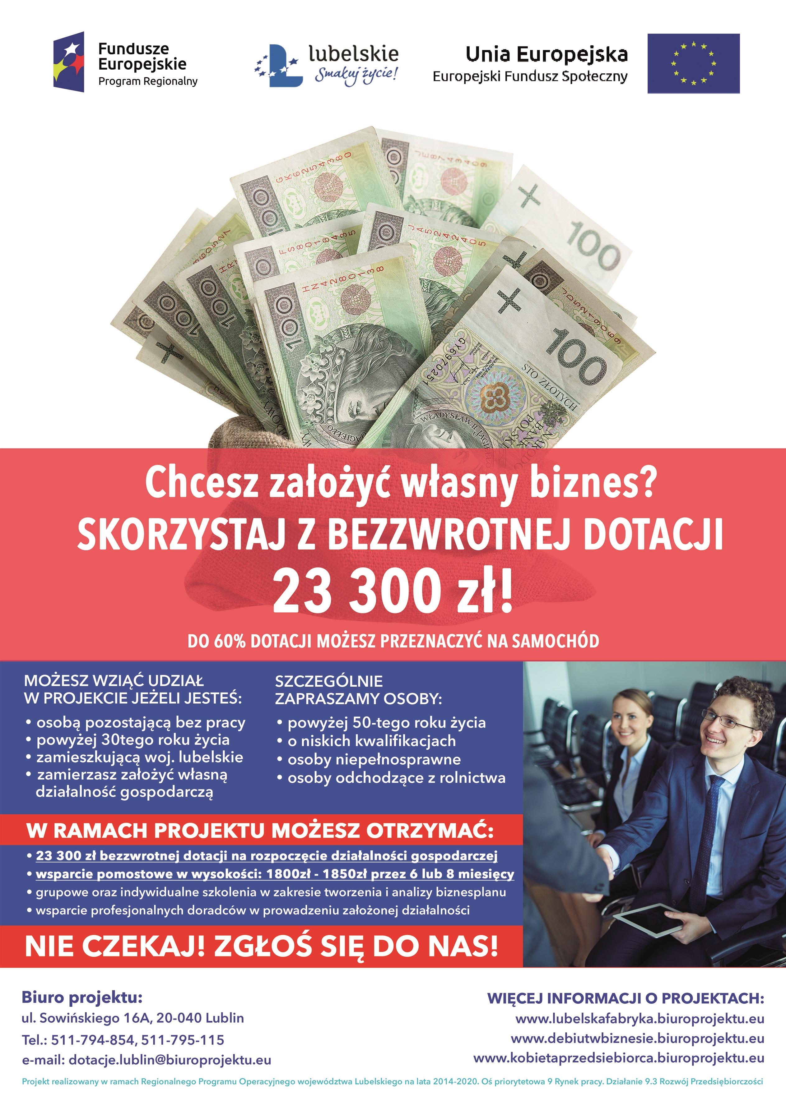 Projekt dotacyjny finansowany ze środków unijnych