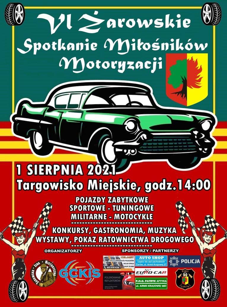 plakat Spotkanie Miłośników Motoryzacji
