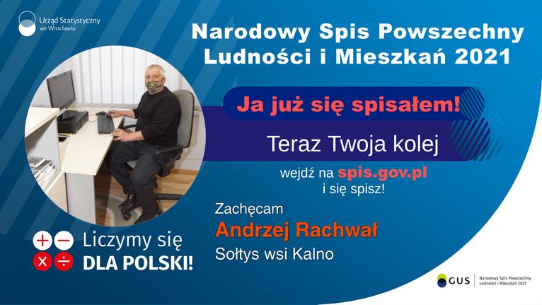spis sołtys Kalna Andrzej Rachwał