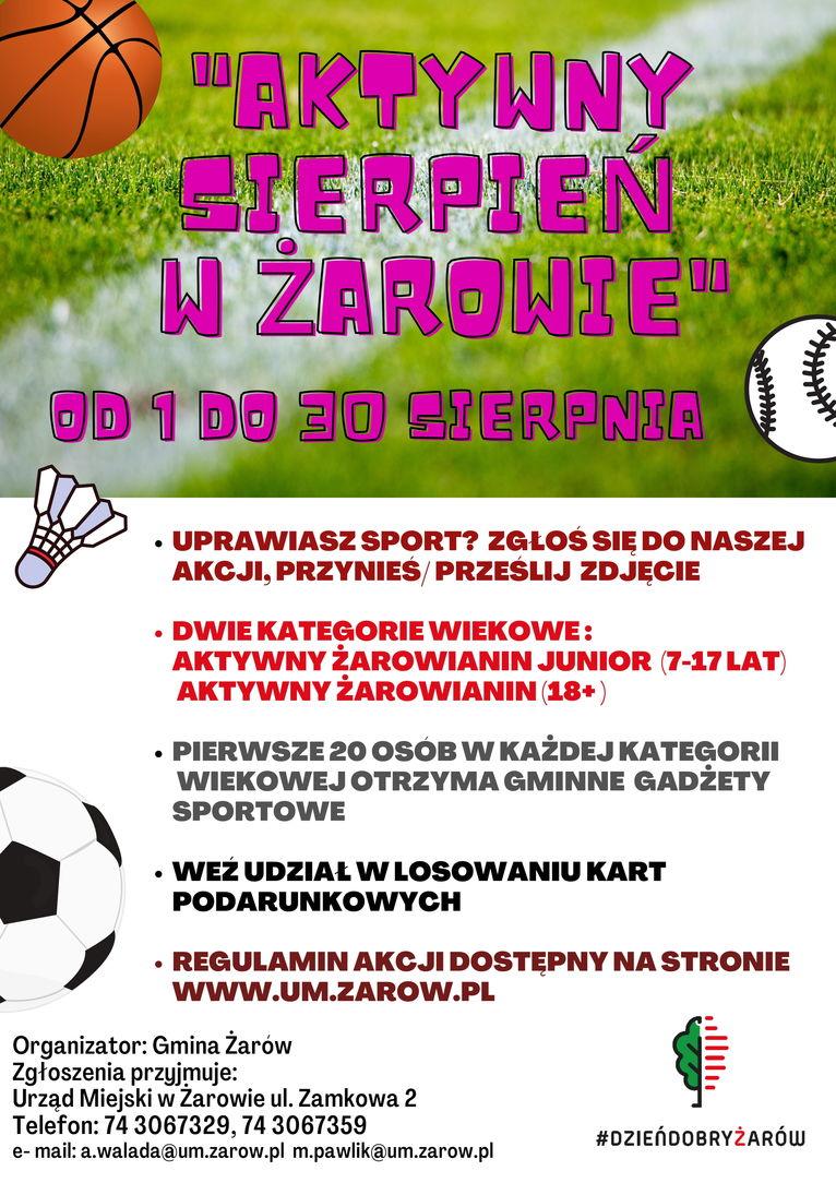 plakat Aktywny Sierpień