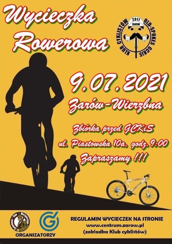Wycicezka Rowerowa 2011 ZARÓW KLUB 9.07.2021 al. Piastowska 10a, godz. 900 Zapraszamy I T. REGULAMIN WYCIECZEK NA STRONIE www.centrum.zarow.pl (zakładka Klub cyklistów)